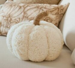 Pottery Barn Cozy Pumpkin Pillow Ivory Sold Out New