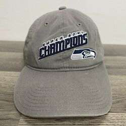 Seattle Seahawks Super Bowl Champions Nfl Hat One Size Gray Youth