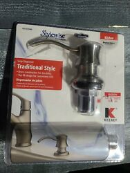 Keeney K612dsbn Premium Style Soap Or Lotion Dispenser With Large Capacity Bo...