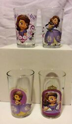 Disney Sofia The First Juice Glasses 8-ounce, Multicolor, Set Of 4