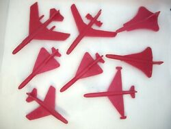 Vintage Ussr Toy Plastic Airplanes Model Toy Children 70s 80s Set Of 31 Mixed