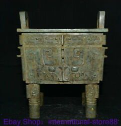 14 Antique Chinese Bronze Ware Dynasty Palace Beast Face Incense Burner Censer