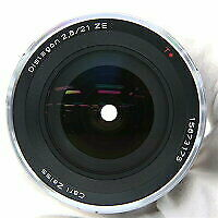 N.mint Carl Zeiss Distagon T 21mm F2.8 Ze Lens For Canon Ef Eos Made In Japan