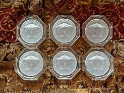 Rosenthal Versace Medusa 6 Glass Coasters Clear 100 Genuine Authentic Brand New