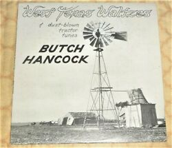 Vinyl Lp By Butch Hancock West Texas Waltzes And Dust-blown Tractor Tunes 1978