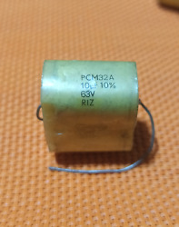 10uf 63v 10 Riz Pcm32a Axial Polyester Film Audio Capacitor Vintage