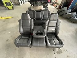 2008 F250 F350 Lariat Black Leather Seats With Console