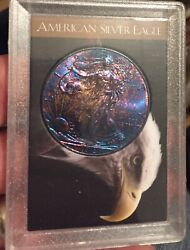 Uncirculated 2012 American Silver Eagle Rainbow Toned / Gorgeous Blue/ Purple