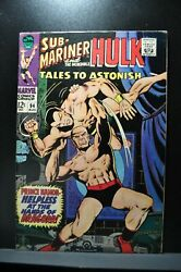 Tales To Astonish 94 Sub-mariner And Incredible Hulk Classic Cover 1967 Marvel
