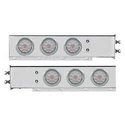 United Pacific 61733 Spring Loaded Light Bars W Six 4 Led Lights And Visors