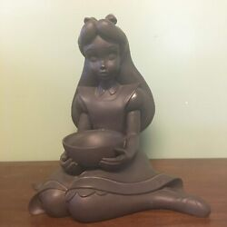 Disney Store Alice In Wonderland And Dinah Big Fig Garden Statue - Used No Box