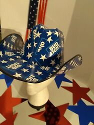 🍺2021 Patriotic Bud Light Cowboy Cowgirl Hat Beer Box Osfm Anheuserbusch New