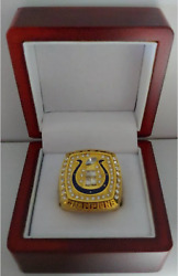 Peyton Manning - 2006 Indianapolis Colts Super Bowl Gold Color Ring With Wooden