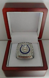 Peyton Manning - 2006 Indianapolis Colts Super Bowl Silver Color Ring Wooden Box