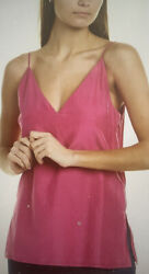 Club Monaco S Soft Solid Cami Chemise Pink/ Rose Made In India Nwt 98 S