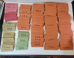 Huge Lot Of 534 Vtg Block Coin Wrappers Various Pennies Nickels Dimes Quarters