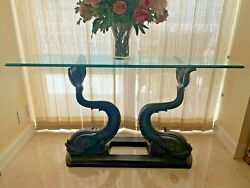Vintage Bronze Console Table Base Sold Without Glass