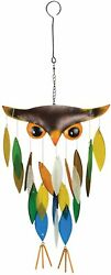 Gift Essentials Hand Crafted Glass Wind Chime Owl Chime