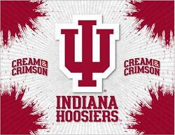 Indiana Hoosiers Hbs Gray Red Wall Canvas Art Picture Print