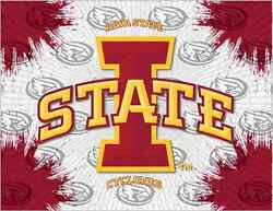 Iowa State Cyclones Hbs Gray Red Wall Canvas Art Picture Print