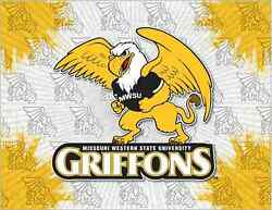 Missouri Western Griffons Hbs Gray Yellow Wall Canvas Art Picture Print