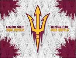 Arizona State Sun Devils Hbs Gray Red Pitchfork Wall Canvas Art Picture Print