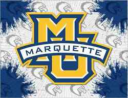 Marquette Golden Eagles Hbs Gray Blue Wall Canvas Art Picture Print