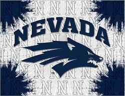 Nevada Wolfpack Hbs Gray Navy Wall Canvas Art Picture Print