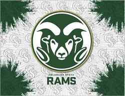 Colorado State Rams Hbs Gray Green Wall Canvas Art Picture Print
