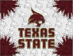Texas State Bobcats Hbs Gray Maroon Wall Canvas Art Picture Print