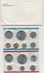 1973 Us Mint Uncirculated Coin Set