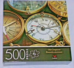 New Old Compasses 500 Piece Puzzle Ship Boat Ship Cardinal Compass Direction