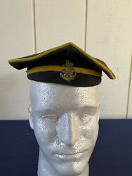 Original Wwii Imperial Japanese Navy Sailor Donald Duck Hat With Japanese Anchor