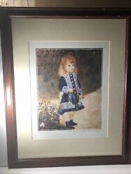 """Auguste Renoir Girl With Watering Can-fille A' L'arrosoir Signed Litho 26""""x32"""""""