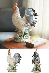 Fitz And Floyd Toulouse Rooster Centerpiece Stands 19.5 Inch Tall Hand Painted
