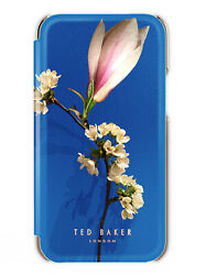 Ted Baker Genuine Bryony Mirror Folio Floral Case For Iphone 12 Harmony Mineral