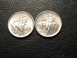 2 Stone Mountain Commerative Halves Both Uncleaned High Grade Original