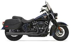 Bassani 21 Touring Exhaust Black Harley Softail Flde Deluxe/flhc Heritage