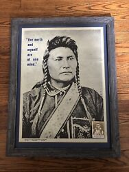 Chief Joseph Original Vintage Native American Portrait Poster Indian 1973 1970and039s