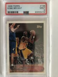 1996-97 Topps Kobe Bryant Rookie Card Rc 138 Psa 9 Mint Lakers. Hall Of Fame