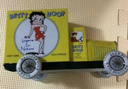 Betty Boop Tin Delivery Truck Car Toy Schylling 1990 Vintage Collection Anime