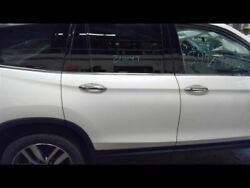 Passenger Rear Side Door Electric With Sunshade White Fits 16-18 Pilot 753669