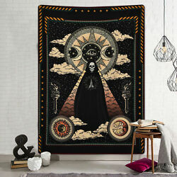 Gothic Sun Skull Tapestry Wall Hanging Decor For Bedroom Living Room Dormitory