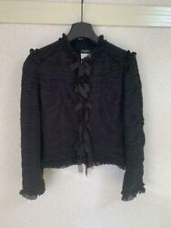 Authentic 100 Silk Black Blouse Free Shipping No.863