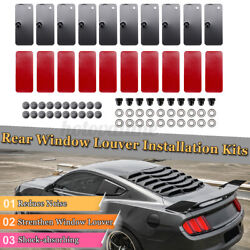 Rear Window Louver Replacement Hardware Double Sided Mounting Installation Kits