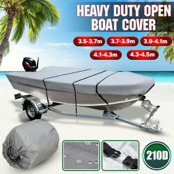 11.5and039- 14.8and039 Ft 210d Trailerable Heavy Duty Open Boat Cover Waterproof Fishing