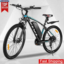 21-speed 27.5 Electric Bike 350w Adults Commuter Bicycle W/ Removable Battery