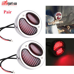 Mode A Stainless Steel Rat Rod Truck Tail Lights Brake Lamps For Ford 1928-1931