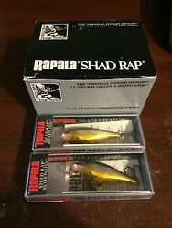 Lot Of 2 Shallow Shad Rap In Gold Black Ssr 5 Sg
