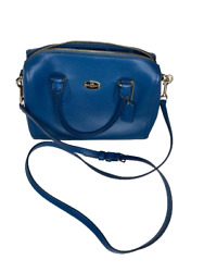 Coach New York Womens Collection Shoulder Crossbody Blue Hand Bags Purse $98.99